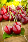 Delicious fresh sweet cherry fruits — Stock Photo