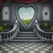 Fantastic background and door of heart. -  
