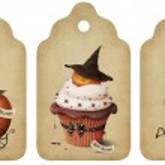 Holiday tags, invitation, Halloween — Stock Photo #11918204