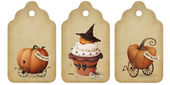Holiday tags, invitation, Halloween — Stock Photo