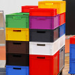 Stock Photo: Colourful crates