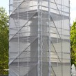 Monument scaffolding — Stock Photo