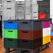 Boxes and crates — Stock Photo