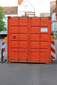Orange container — Stock Photo
