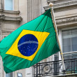 Brazil flag - Stock Photo