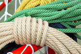 Rope and yarns — Stock Photo