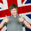 Thumbs up Brit — Stock Photo #11972955