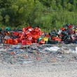 Plastic scrap yard — Stock Photo