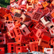 Stock Photo: Red crates