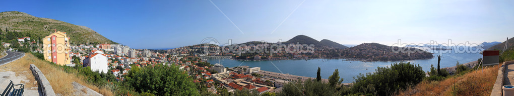 Panoramic shot of bay and Dubrovnik port  Stock Photo #12115663