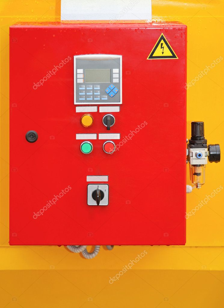 Electric control box for fuses with switches — Stock Photo #12186274