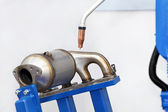 Exhaust welding — Stock Photo