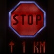 Stock Photo: LED Stop