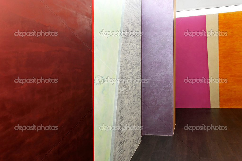 Modern interior with colourful and decorative walls  Zdjcie stockowe #12275478