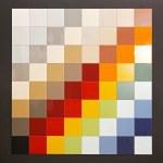 Color tiles — Stock Photo