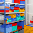 Color shelf bins — Stock Photo #12394899