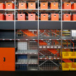 图库照片: Warehouse shelves