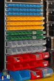 Color plastic bins — Stock Photo