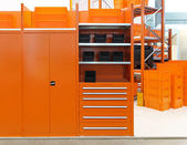 Orange warehouse — Stock Photo
