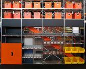 Warehouse shelves — Stock Photo
