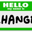 Nametag Hello My Name is Change Label Sticker — Stock Photo #10918404