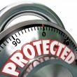 Protected Combination Lock Security Protection — Stock Photo