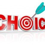 ターゲット雄牛目 word の最良の選択肢の選択矢印 — ストック写真