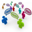 Trust Speech Bubbles Loyalty Confidence - Stock Photo