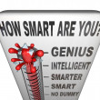How Smart are You Thermometer Measure Intelligence - Stock Photo