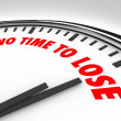 Royalty-Free Stock Photo: No Time to Lose Clock Counting Down Final Minutes