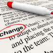 Stok fotoğraf: Change Dictionary Definition Word Adapt Evolve