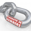 Strength in Numbers Chain Links Power Potential — Stock Photo
