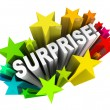 Surprise Starburst Word Exciting News Information — Stock Photo