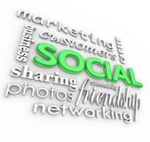 Social 3d Words Background Community Business Marketing — Stock Photo