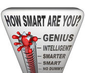 How Smart are You Thermometer Measure Intelligence — Stock Photo