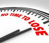 Geen tijd te verliezen klok aftellen van laatste minuten — Stockfoto