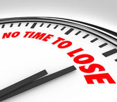 No Time to Lose Clock Counting Down Final Minutes — Foto Stock