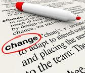 Cambio diccionario definición palabra adaptar evolucionar — Foto de Stock