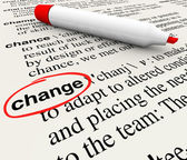 Change Dictionary Definition Word Adapt Evolve — Foto Stock