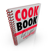 Cookbook Spiral Bound Cook Book Let's Get Cooking — Stock Photo