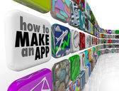 How to Make an App Software Tile Wall of Apps Icons — Foto Stock