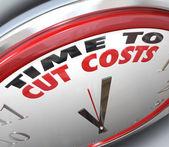 Düşük bütçe harcamaları azaltmak zaman maliyetlerini düşürmek için — Stok fotoğraf