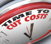 Time to Cut Costs Reduce Spending Lower Budget — Stock Photo