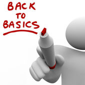 Back to Basics Writing Message Red Marker — Stock Photo