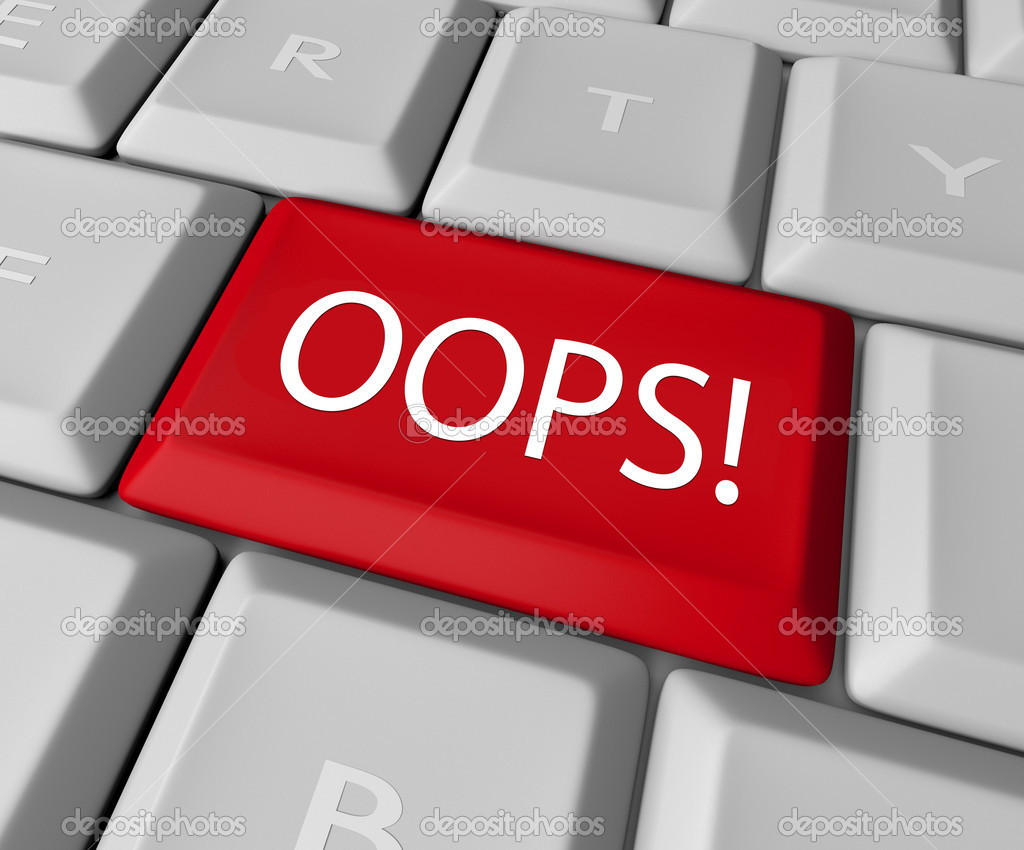 The word Oops on a red computer keyboard allowing you to catch a mistake and edit, correct or erase your error or wrong fact to make it right  Stock Photo #10918499