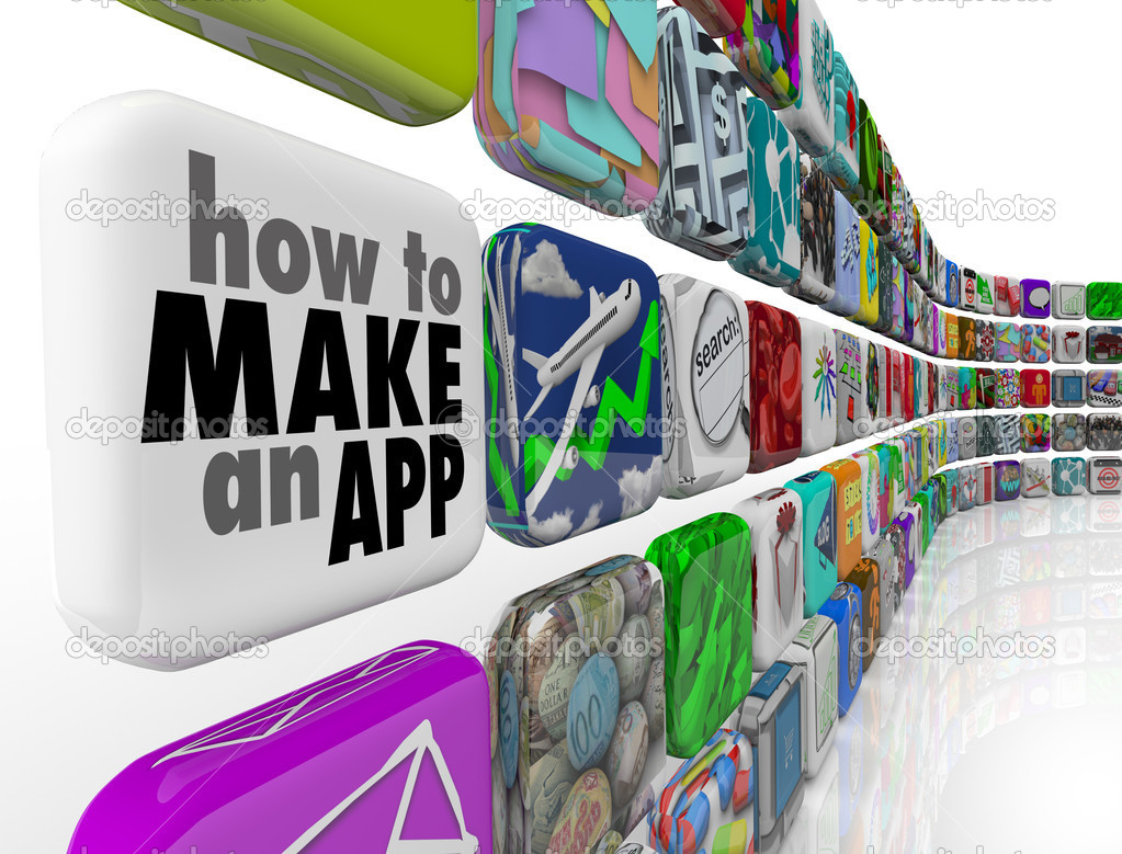 How to Make an App Software Tile Wall of Apps Icons — Stock Photo ...