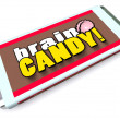 Brain Candy Chocolate Bar Wrapper Stimulate Ideas — Stock Photo