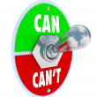 Cor Can't Toggle Switch Committed to Solution Attitude — Stock Photo #11469689