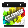 Celebrate Fireworks Word on Wall Calendar Vacation Holiday - Stock Photo
