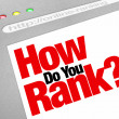 como você rank ranking do search engine do site — Fotografia Stock  #11469726